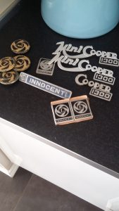 innocenti cooper 1300 emblems